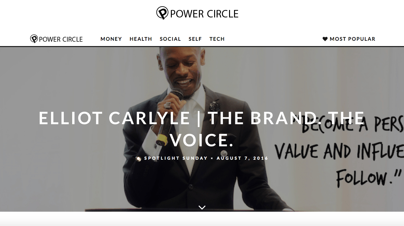 Tearsheet from Elliot Carlyle's feature on Power Circle