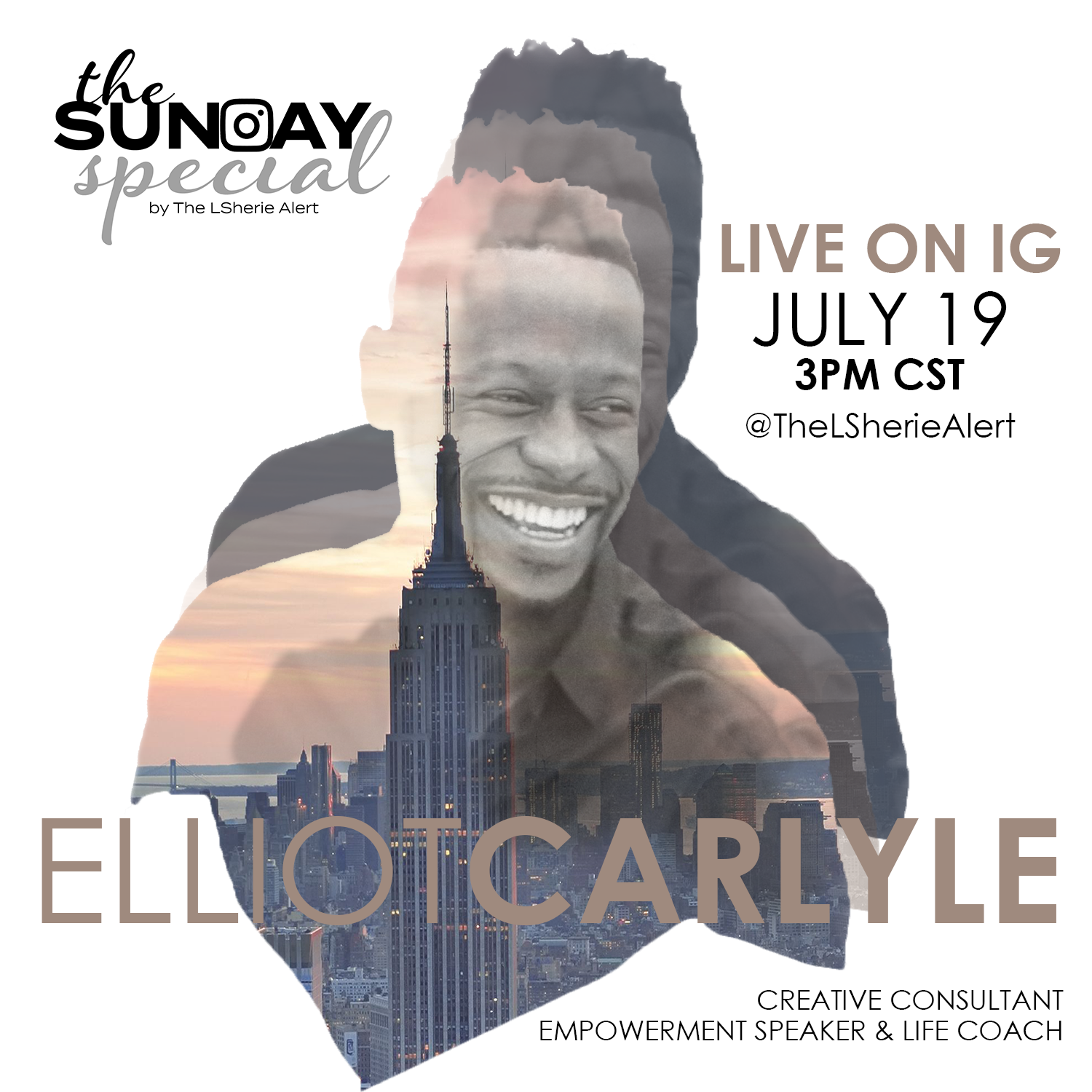 Promotion for Elliot Carlyle's appearance on The Sunday Special on July 19, 2020